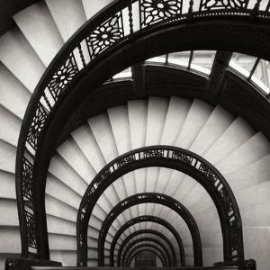 Rookery Stairwell Sq by Jim Christensen