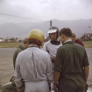 Jim Clark at the Austrian Grand Prix, Zeltweg, Austria,1964