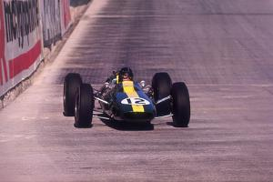 Jim Clark Driving a Lotus, Monaco Grand Prix, 1964