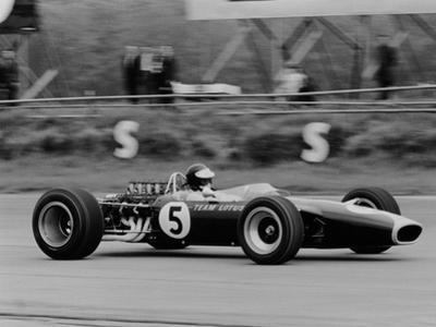 Jim Clark Driving the Lotus 49 at the British Grand Prix, Silverstone, 1967