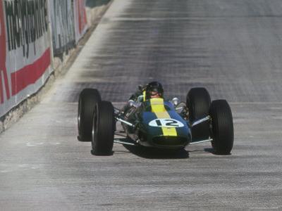 Jim Clark in Lotus Climax, 1964 Monaco Grand Prix.
