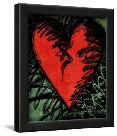Rancho Woodcut Heart