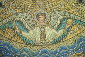 Aachen Cathedral, Mosaic of Arch Angel, Aachen, Germany by Jim Engelbrecht