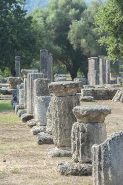 Ancient Greek ruins, gymnasium, Olympia, Greece by Jim Engelbrecht