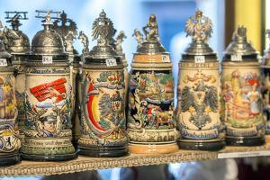 Beer Steins for Sale, Rothenburg, Germany by Jim Engelbrecht