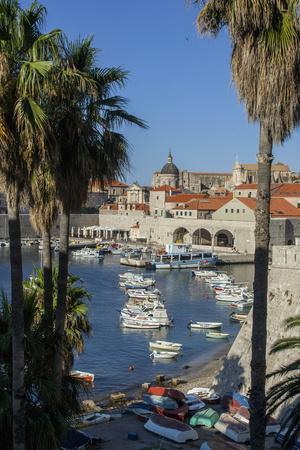 Boats in Harbor, Dubrovnik, Croatia, Europe