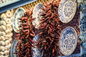 Display at Covered Market, Budapest, Hungary by Jim Engelbrecht