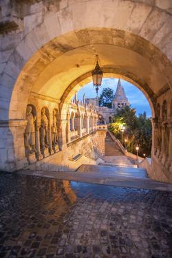 Fisherman's Bastion at Night, Buda, Budapest, Hungary by Jim Engelbrecht