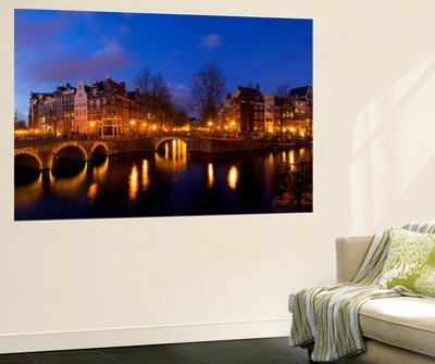 Keizergracht Canal, Leidsegracht Canal, South Holland, Amsterdam, Netherlands by Jim Engelbrecht