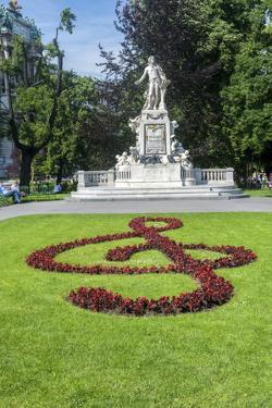 Mozart Statue, Vienna, Austria by Jim Engelbrecht