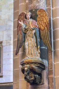 Portugal, Evora, Cathedral of Evora, Angel Statue by Jim Engelbrecht