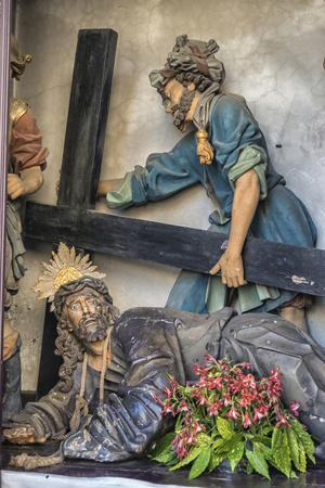Portugal, Guimaraes, Detail of Stations of the Cross