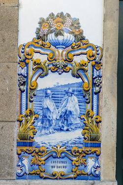 Portugal, Pinhao, Azulejo Mural, Train Station by Jim Engelbrecht