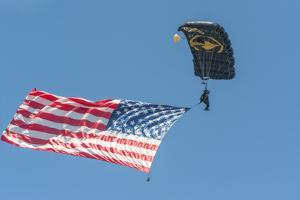SkyFest, airshow, USSOCOM, army paratrooper, New Smyrna Beach, Florida, USA by Jim Engelbrecht