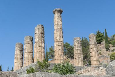 Temple of Apollo, Delphi, Greece by Jim Engelbrecht