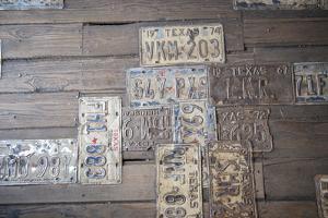 Texas License Plates, Wall Art, Gruene Hall, Gruene, Texas, Usa by Jim Engelbrecht
