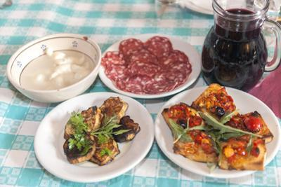 Traditional local food, Tenuta Tannoja, Andria, Italy by Jim Engelbrecht