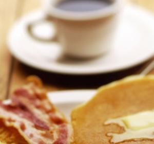 American Breakfast of Pancakes, Eggs, and Bacon by Jim McGuire