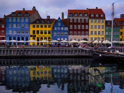 Sunset at Nyhavn, Copenhagen, Denmark, Scandinavia, Europe by Jim Nix