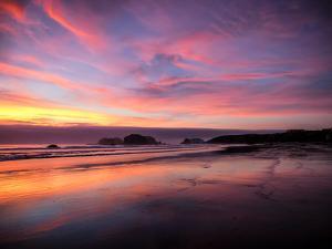 Sunset in Bandon, Oregon, United States of America, North America by Jim Nix