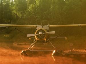Morning Mist Floatplane, AK by Jim Oltersdorf