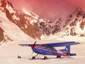 Plane, Kahiltna Glacier, AK by Jim Oltersdorf