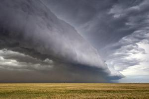 A Supercell Thunderstorm Produces a Spectacular Shelf Cloud over Cropland by Jim Reed