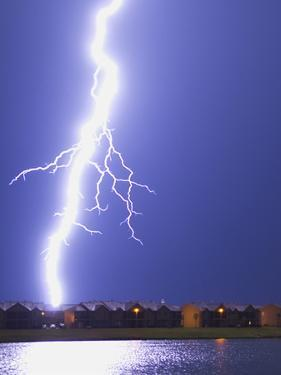 Lightning Striking an Apartment Complex by Jim Reed