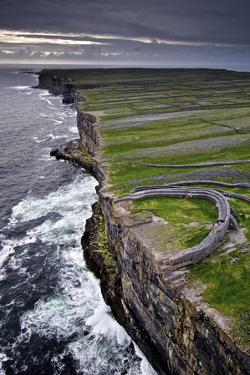 Atlantic Waves Crash on the Cliffs Beneath the Ancient Dun Aengus by Jim Ricardson