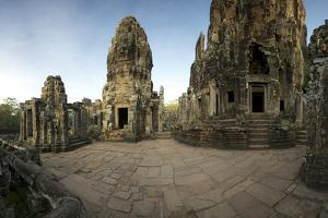 Ornate Bas Relief on the 12th Century Buddhist Pyramid Temple, Bayon by Jim Ricardson