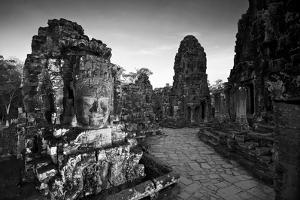 Ornate Stone Carvings at the Buddhist Pyramid Temple, Bayon by Jim Ricardson