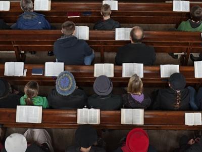 A Midweek Prayer Meeting in the Church of Scotland by Jim Richardson