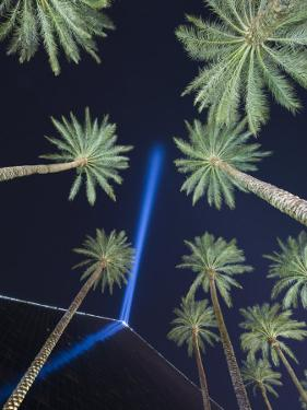 A pointed source of light sits atop Las Vegas's Luxor Hotel by Jim Richardson