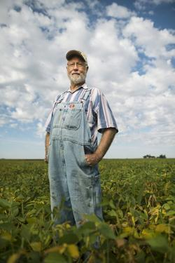 A Soybean Farmer on His Farm in Iowa by Jim Richardson
