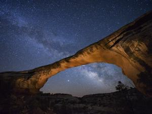 A starry night gleams above Owachomo Bridge by Jim Richardson
