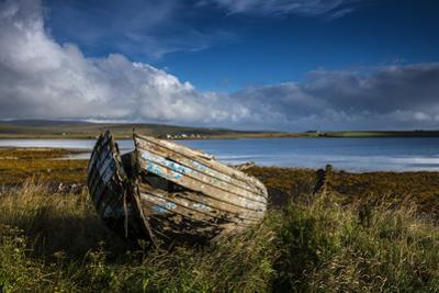 An abandoned boat on the island of Hoy. by Jim Richardson