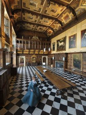 An Actress Glides across the Marble Floor of Hatfield House by Jim Richardson