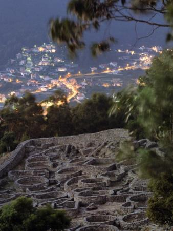 Ancient Celtic Santa Tecla Looks Down on the Modern City of a Garda by Jim Richardson