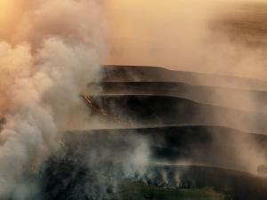 Carefully Managed Fires Sweep across the Flint Hills in Spring by Jim Richardson
