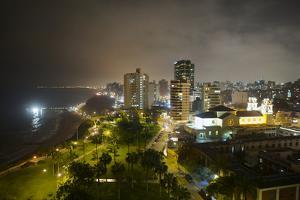 Downtown Lima at Night by Jim Richardson