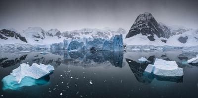 Ice and mountains in Neko Harbor. by Jim Richardson