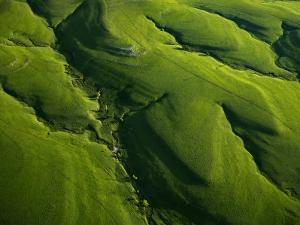 Meandering valleys of Texaco Hill in the Flint Hills by Jim Richardson