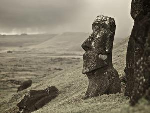 Moai on a Hill on Easter Island by Jim Richardson