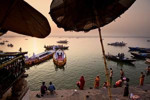 Morning Bathing in the Ganges in Varanasi, India by Jim Richardson