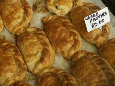 Pasties, a Cornish Food, in a Shop in an Ancient Fishing Village by Jim Richardson