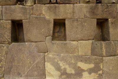 Perfectly Interlocking Stone on Pre-Columbian Inca Walls by Jim Richardson