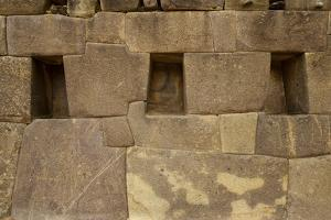 Perfectly Interlocking Stone on Pre-Columbian Inca Walls by Jim Richardson