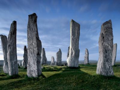 The Callanish Standing Stones, cut from rocks three billion years old. by Jim Richardson