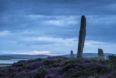 The Ring of Brodgar, a Neolithic henge monument with a stone circle. by Jim Richardson