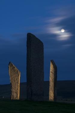The Stones of Stenness, a Neolithic sacred site. by Jim Richardson